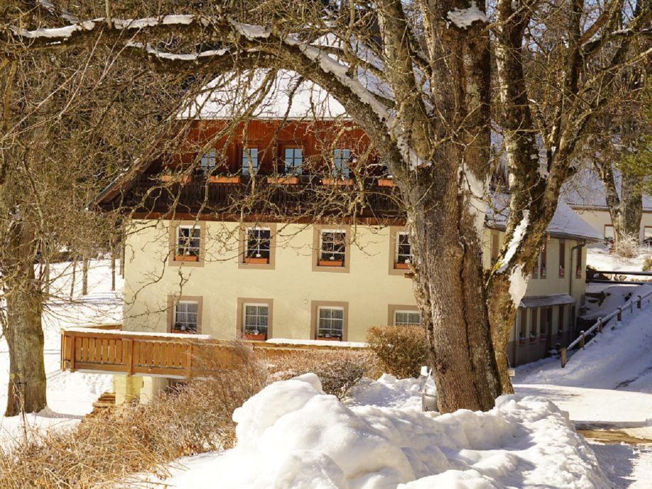 Das Hirschlehaus im Winter