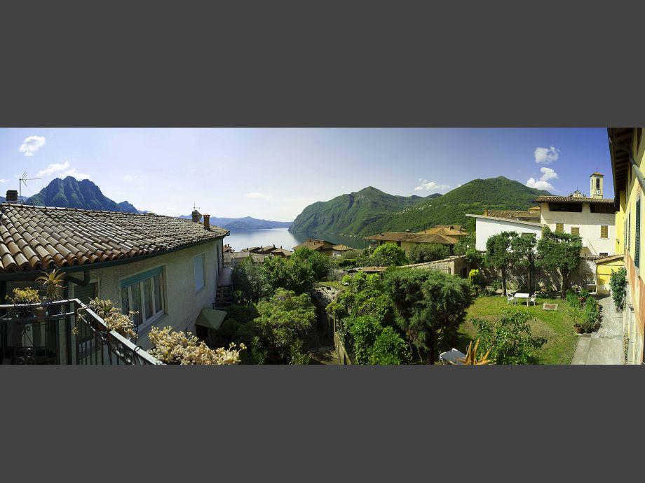 die landschaft vom Balkon