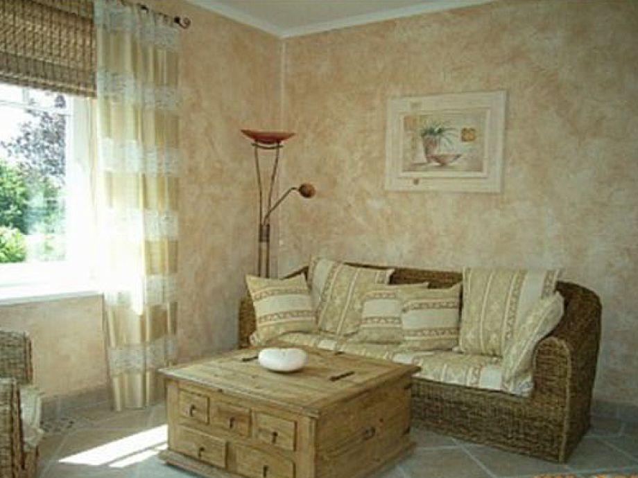Casa Rustica Wohnzimmer mit Meerblick