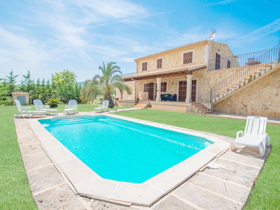 Large pool at the villa
