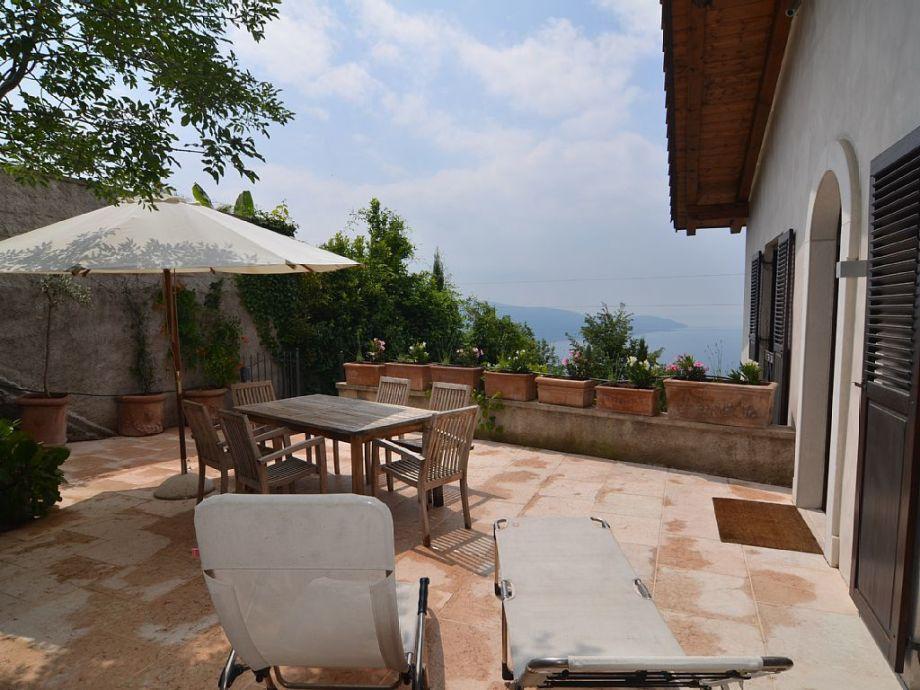 Cosy deckchair on terrace