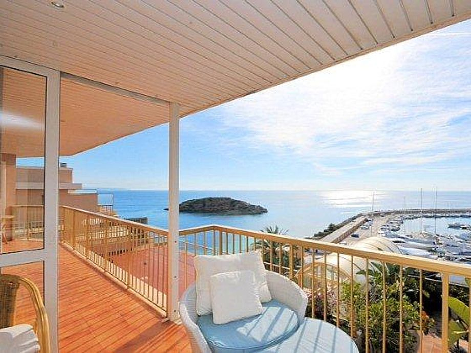 Balkon mit fantastischem Meerblick