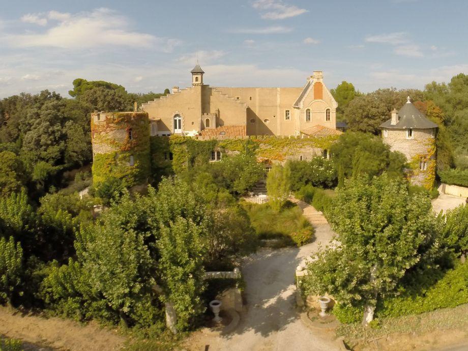 Schloss Hermitage de Combas in Languedoc, Südfrankreich