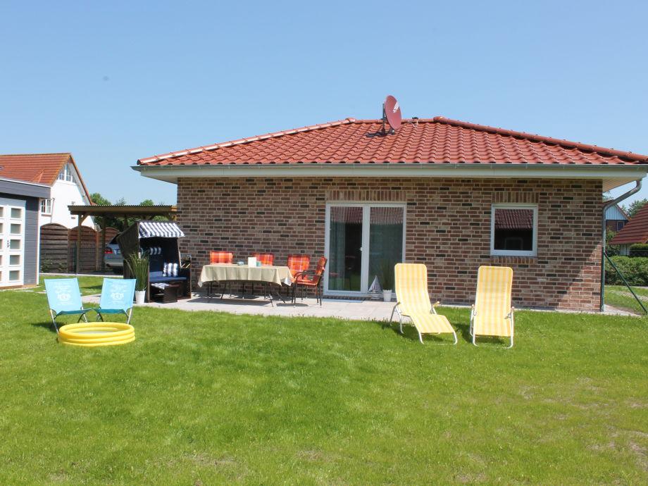 Haus Strandkorb - Garten mit Terrasse