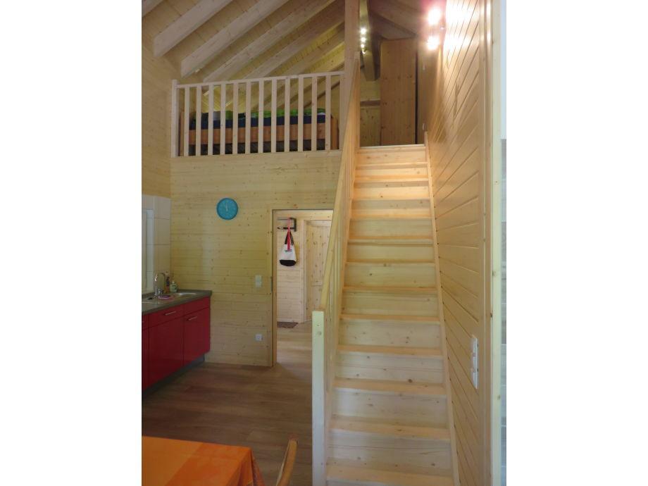 Treppenaufgang Galerie mit 2 Schlafmöglichkeiten