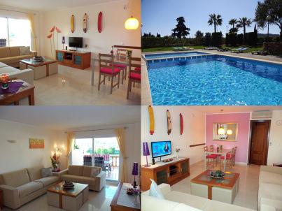 Luxus Ferienwohnung Palmera mit Pool