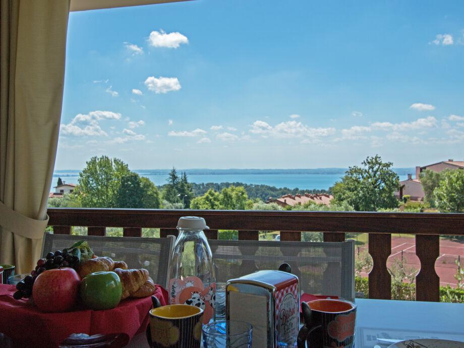 Ausblick von der Ferienwohnung Dulcamara