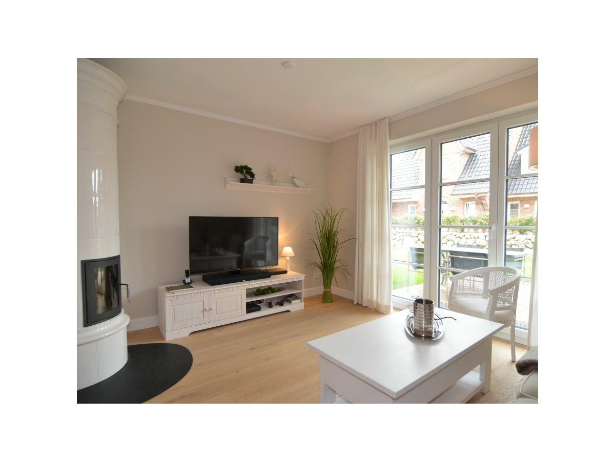 Ferienhaus bals sylter quartier seestern westerland firma appartement vermietung bals gmbh - Wohnzimmer mit kamin ...