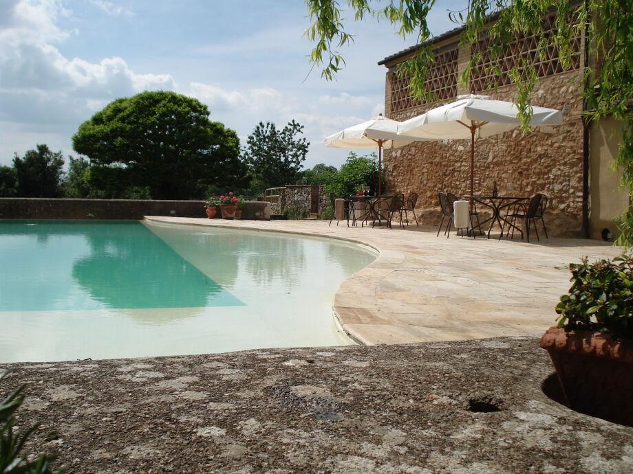 Panorama-Pool von der Villa