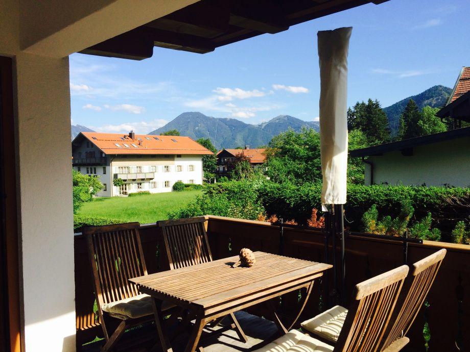 Terrasse mit Blick auf den Wallberg