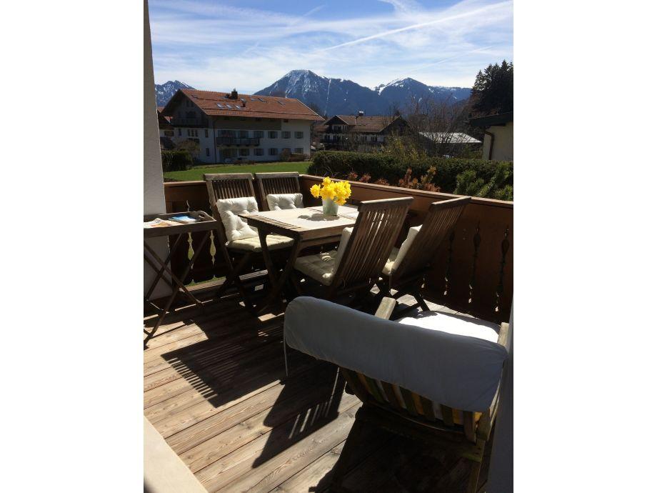 Balkon mit Blick auf den Wallberg