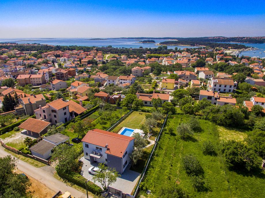Außenaufnahme Villa Medulin 900m Strand