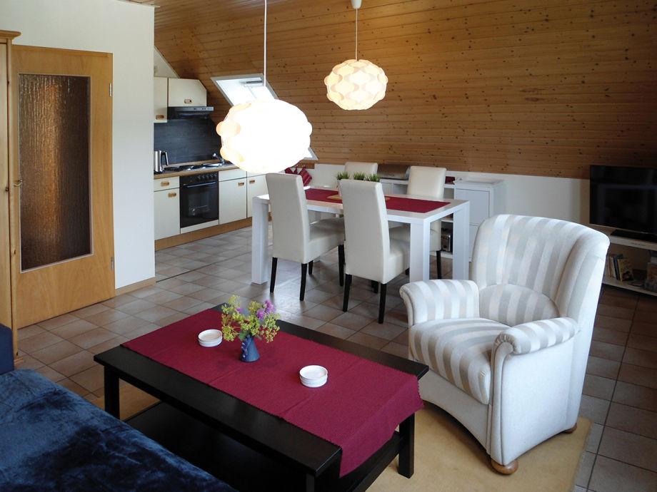 Ferienwohnung Eilers - Offener Wohn- & Küchenbereich