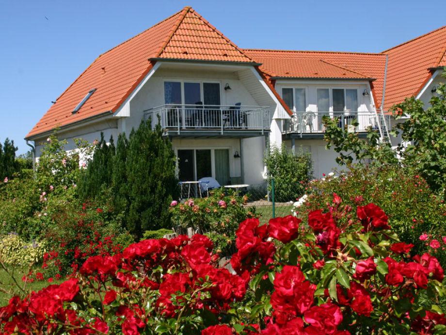 Blick auf die Ferienwohnung 9 mit Terrasse