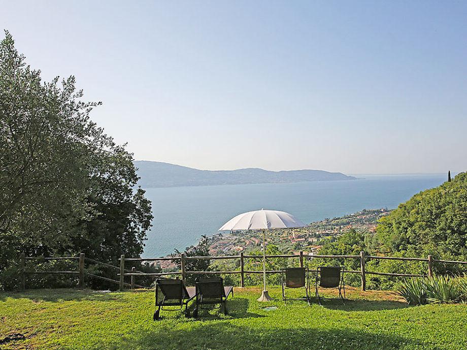 Blick von dem See zum Garten