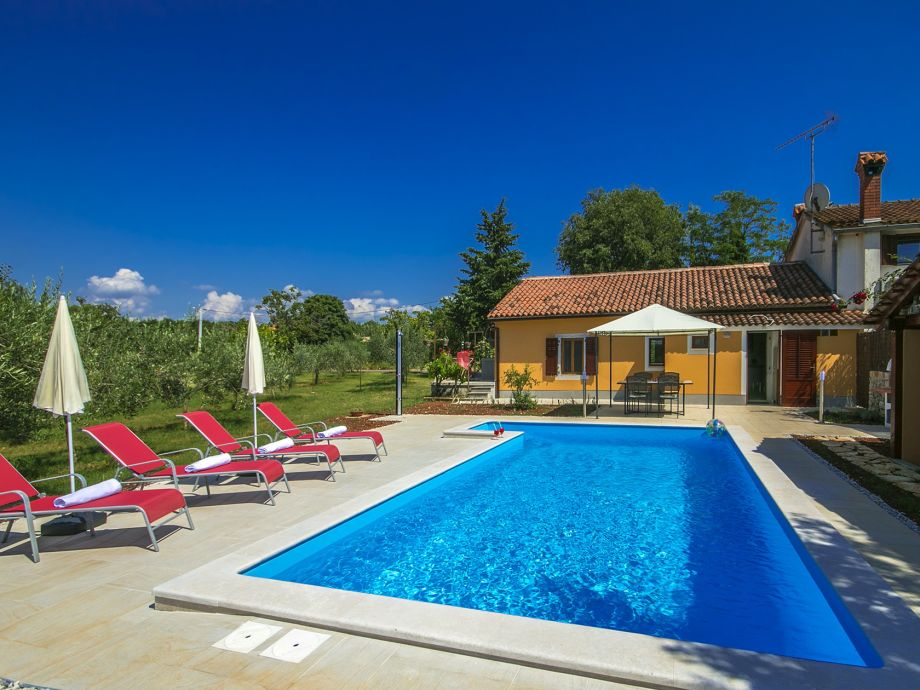 Ferienhaus mit Pool in Istrien