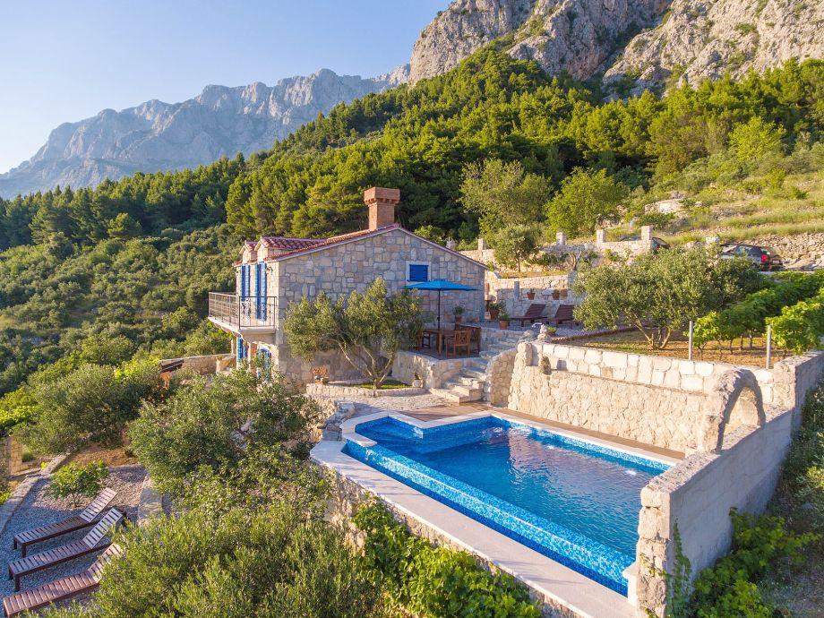 Außenbereich mit privatem Pool