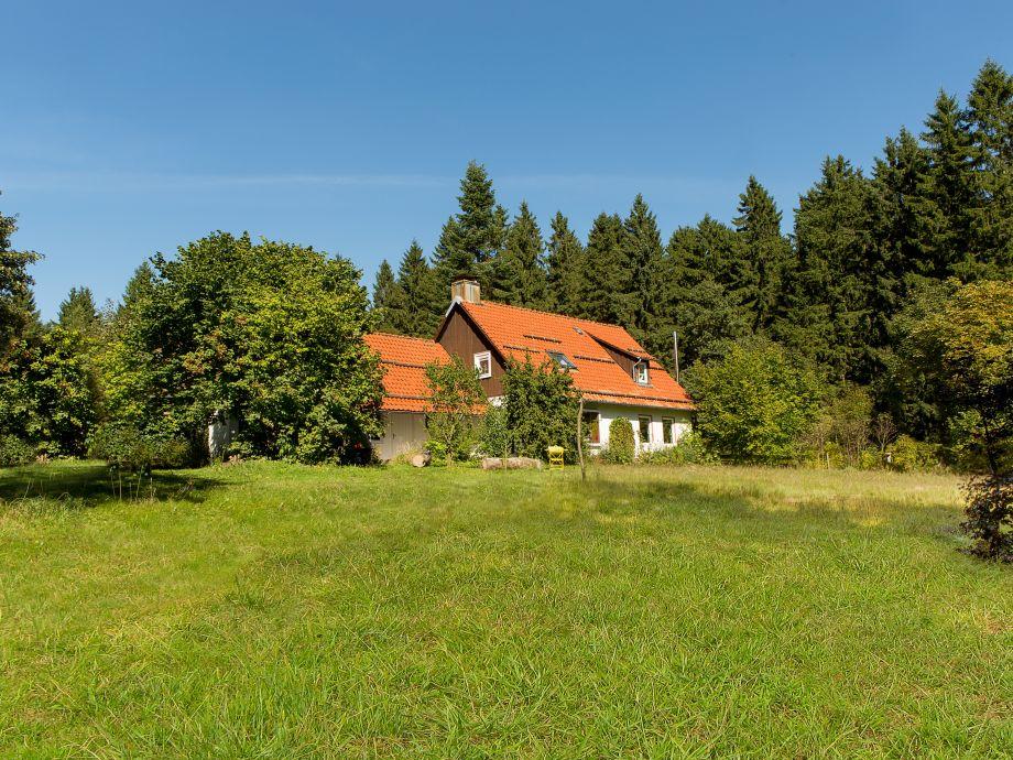 Sommerwiese -Südansicht Forsthaus