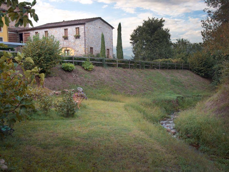 Ferienhaus mit Pool un Garten eingezäunt