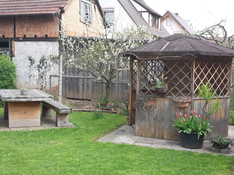 Garden with barbecue