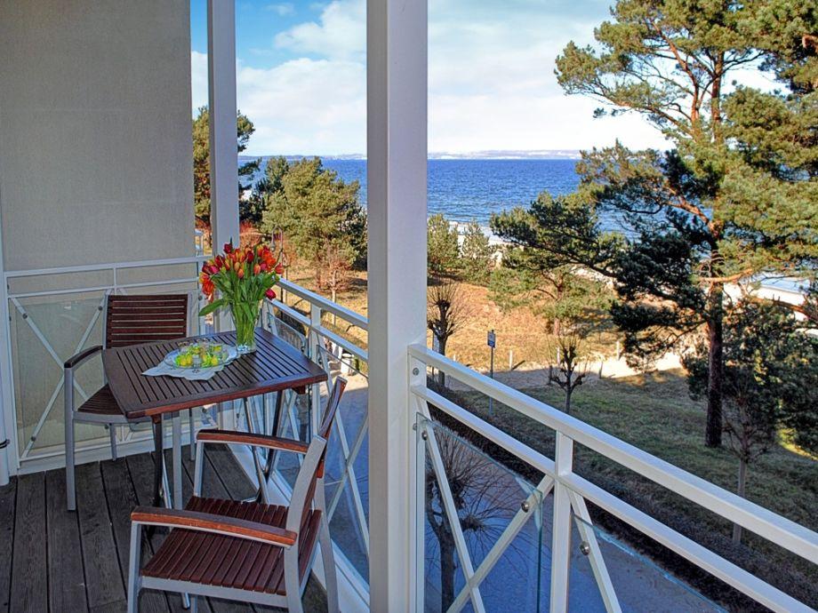 Balkon mit wunderschönem Ostseeblick