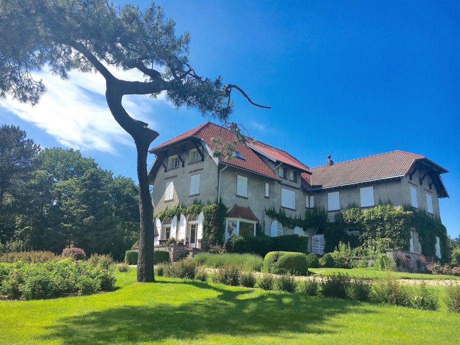 The mansion facade