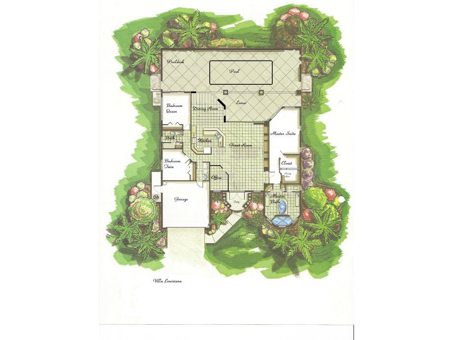 Traumvilla grundriss  Villa Luisa, Florida, Cape Coral - Firma AK-Traumvillen - Familie ...