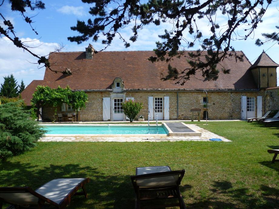 Außenaufnahme top class holiday home, pool, Périgord,6-8 p.