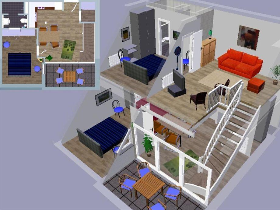 3D-Model der Ferienwohnung