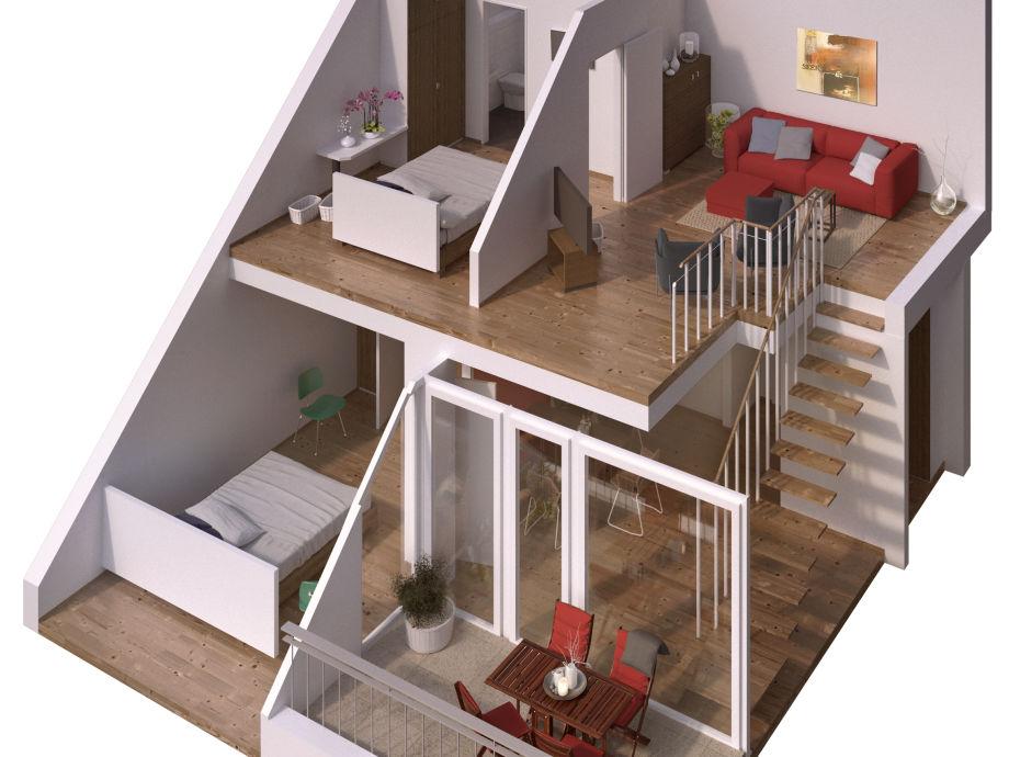 3D-Model der Wohnung