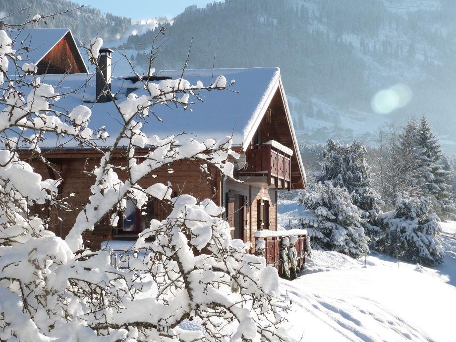 Unser Chalet im Winter