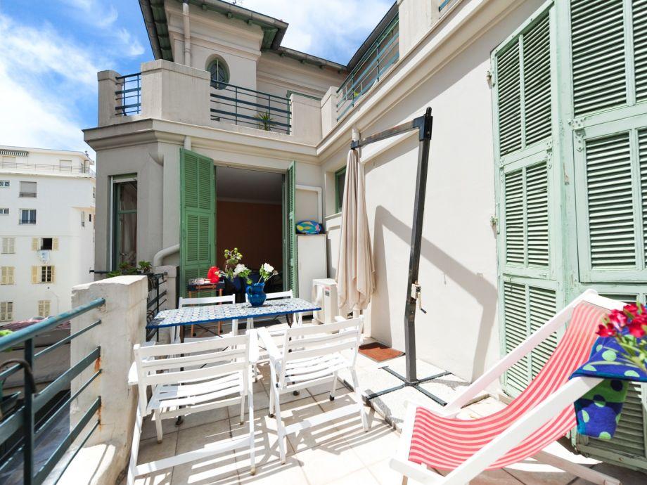 Terrasse der Ferienwohnung La terrasse
