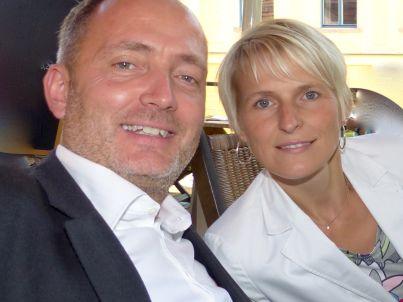 Ihr Gastgeber Tino und Katja Utassy