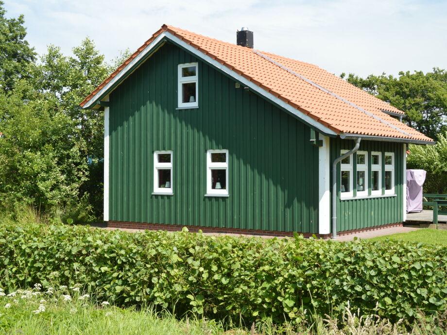 Grünes Sommerhaus am Meer