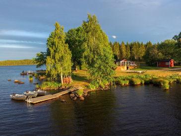 Ferienhaus direkt am See für Angler