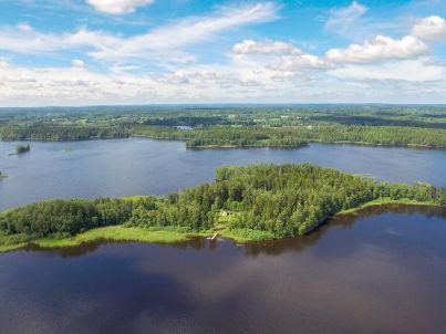 auf einsamer Insel in Småland