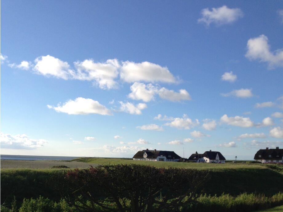 Blick von der Terrasse auf s Wattenmeer