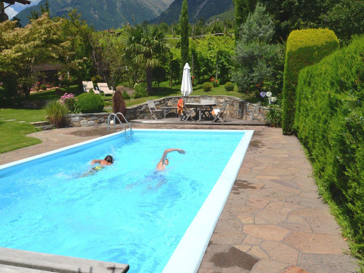 Ferienwohnung mutspitz im obermaratscher algund frau anna mazohl unterweger - Pool salzwasser ...