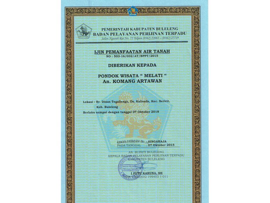 Pondok Wisata Genehmigung Zur Vermietung