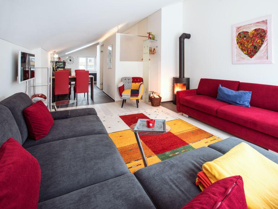 Wohnbereich Studio Panoramablick