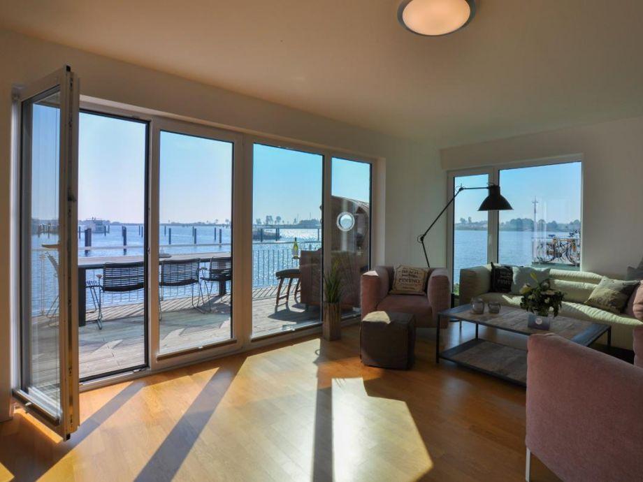 Ferienhaus Harbour House - Wohnzimmer