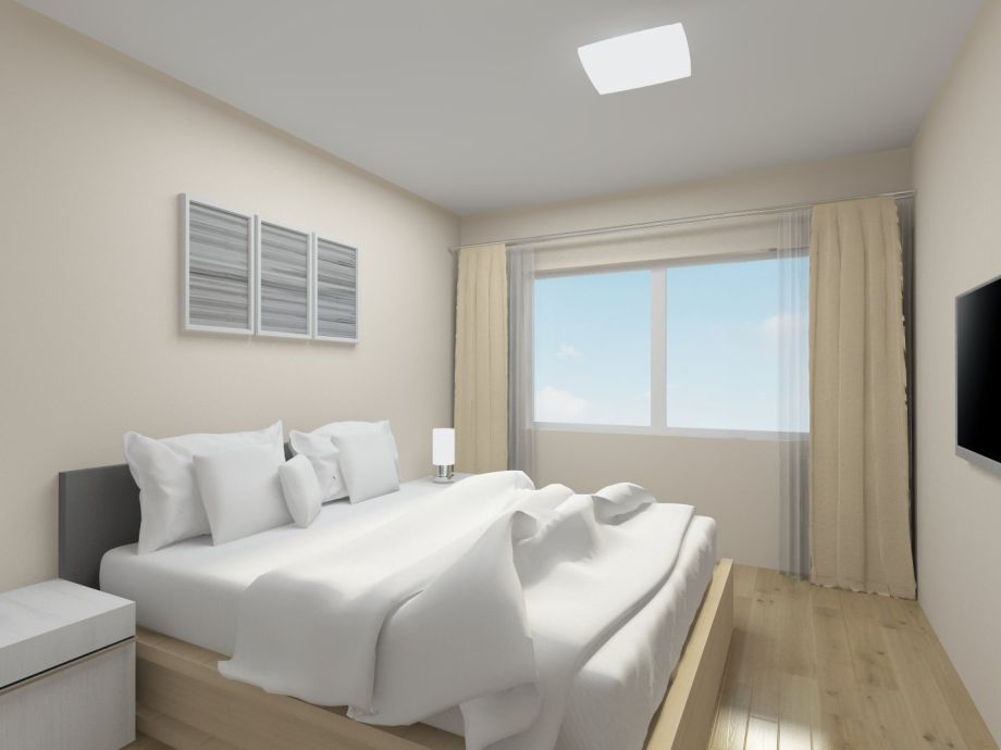 """Schlafzimmer 1 in der Ferienwohnung """"Müritzsonne"""""""