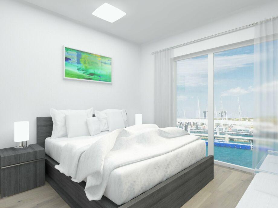 Schlafzimmer mit Wasserblick zum Träumen