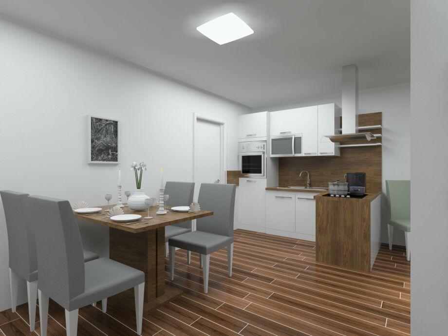 Essbereich im Apartment Müritzblick