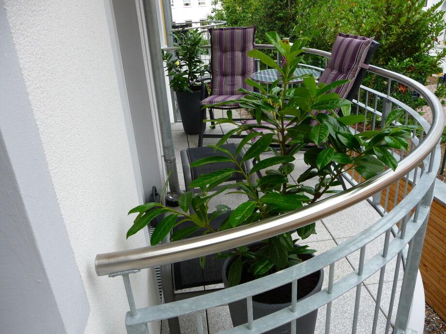 Außenaufnahme 04 A.01 in der Villa Rosa mit Balkon (Ost)