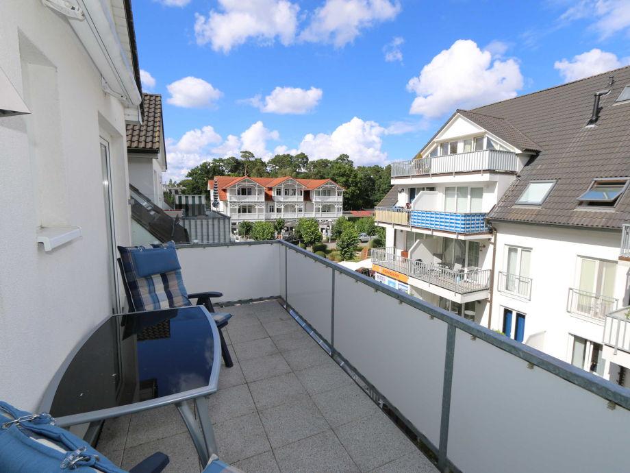Außenaufnahme Ferienwohnung Strandmöwe mit Balkon (Süd/Ost)