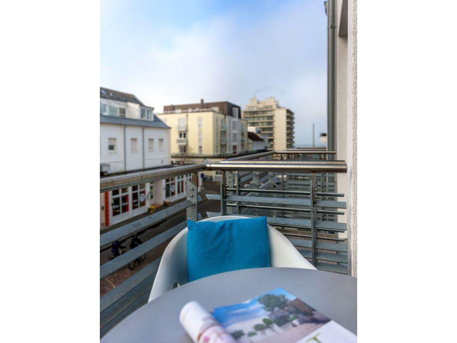 Balkon Blick Richtung Nordsee