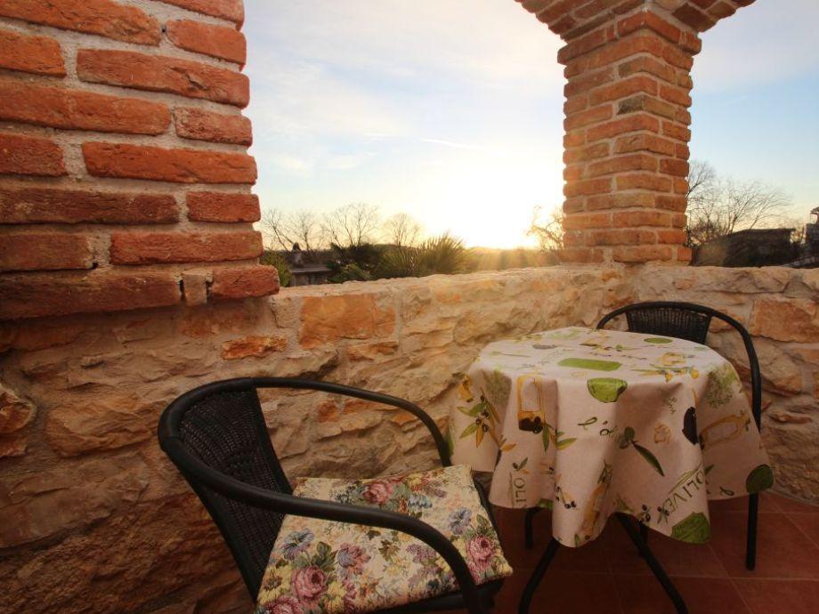 Balkon mit schönem Ausblick