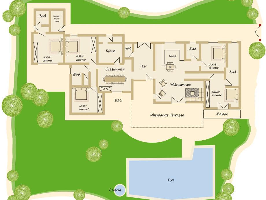 Grundriss villa mit pool  Villa Ralf, Costa Blanca Spanien - Frau Julia Bartel