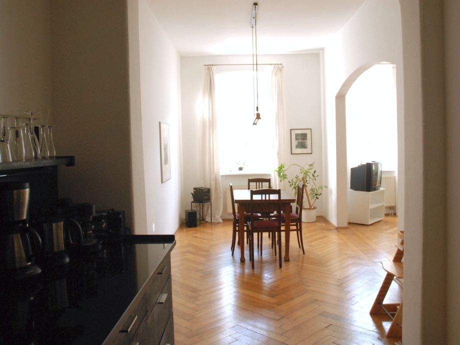 Wohnzimmer: Küche/Essbereich